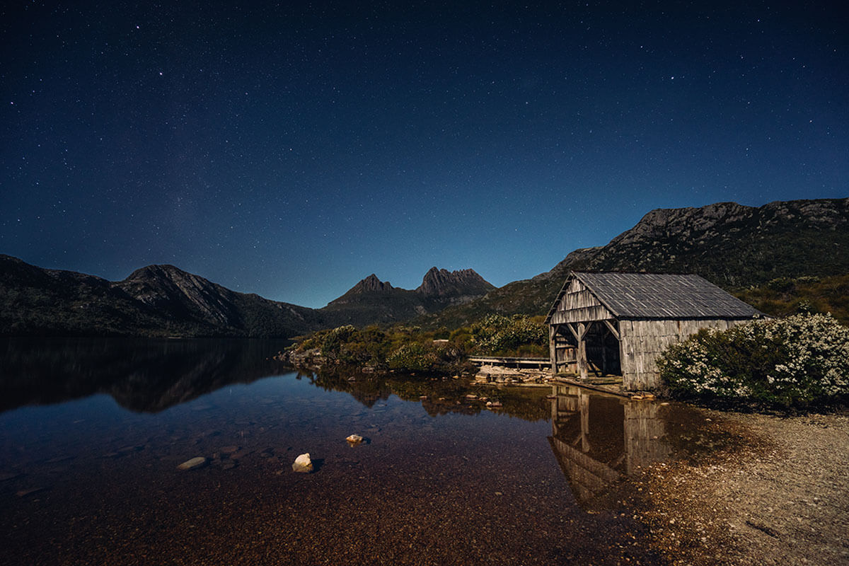 Cradle Mountain and Lake Dove Boathouse by Tourism Tasmania and Jason Charles Hill
